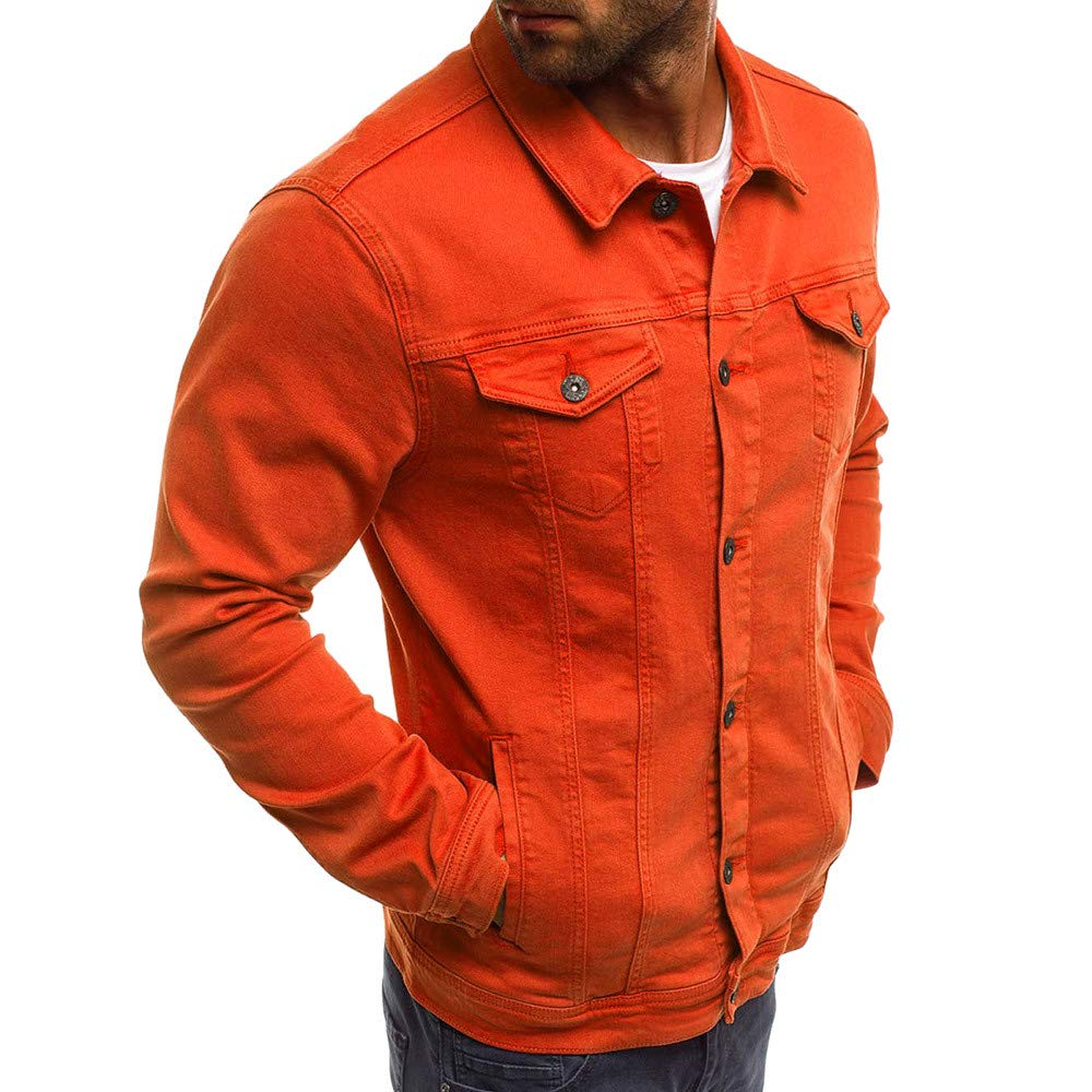 Amazon.com: SSYUNO Mens Autumn Winter Relax Fit Thick Sherpa Lined Button Solid Color Vintage Denim Jacket Tops Blouse Coat: Clothing