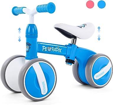 Peradix Bicicleta Sin Pedales para Niños y Niñas,Bici Sin Pedales de Manillar y Sillín Ajustables para Niño 1-3 Año Juguetes Equilibrio Triciclos Bebes,Correpasillos Bebe 1 año: Amazon.es: Juguetes y juegos