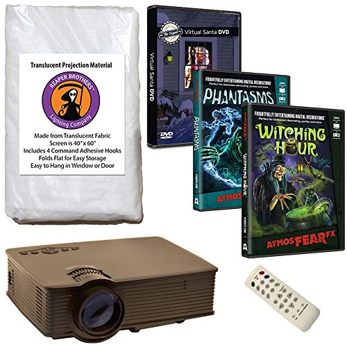 AtmosFearFX Phantasms & Witching Hour Virtual Reality HD Projector Kit for Halloween. Includes Free Virtual Santa -