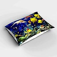 Else Renkli Balıklar 3d Desenli Yatak Odası Yastık Kılıfı 50x70cm