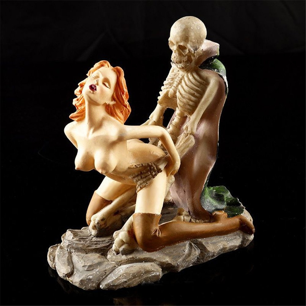 TBW Sexy Woman Skeleton Sculpture Lover Wedding Figurine Adult Ceremony Halloween Gift
