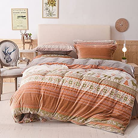 More Colors Korean Style Carved Down And Mink Fox Wool Plants And Flowers Four Set Of Duvet Cover 1Duvet Cover 1Sheet 2pillowcase D Queen2