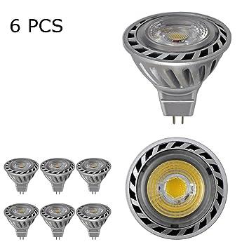 BAOMING MR16 GU5.3 Base COB LED 12V Bombillas Focos halógenos de 50W Bulbos Equivalente Blanco frío 6000k 38 grados de ángulo del haz de alto brillo ...