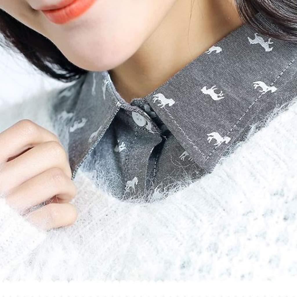 Tandou Krageneinsatz Damen Fake Kragen Blusenkragen Einsatz