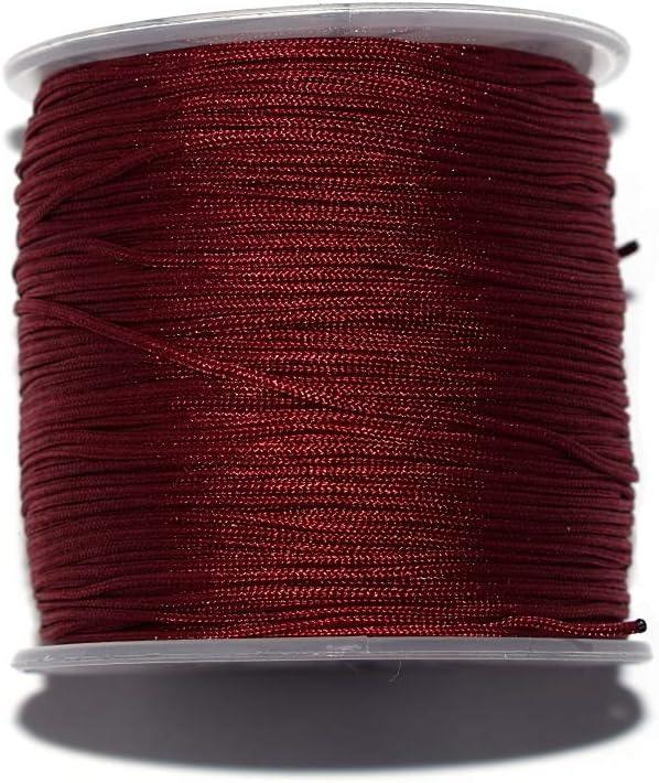 Fil nylon tress/é 1 mm bordeaux x10 m