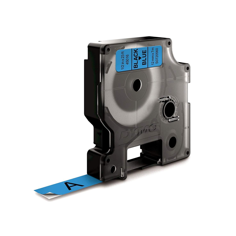 pour /étiqueteuses LabelManager 12/mm/x/7/m DYMO D1 /étiquettes autocollantes authentique impression en blanc sur fond noir