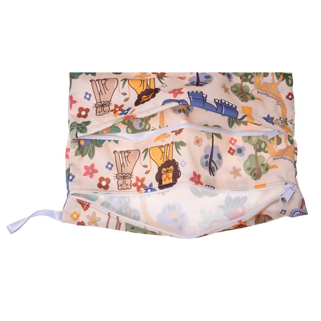 Sonline Sac sacoche stockage rangement arrangement de couche lavable bebe tissu culotte modele animal de lion Beige Elephant