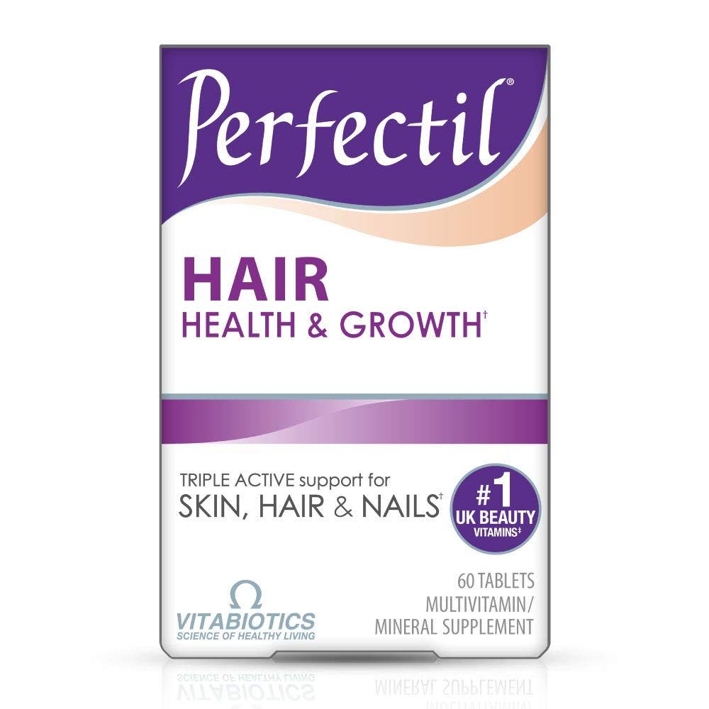 Vitabiotics Perfectil Hair Multivitamin | Hair Growth and Thickening Formula | Supports Thicker, Healthy Hair | Vitamin D, Vitamin E, Collagen, Biotin, and More