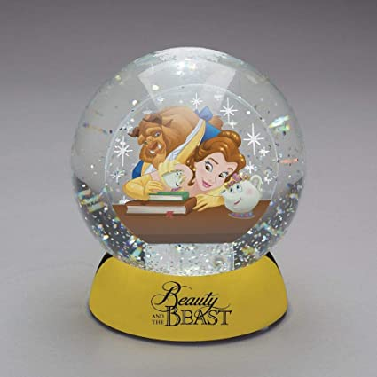 Department56 Disney Classic Brands Beauty And Beast Dazzler Water Ball 4 5 Snow Globe Multicolor