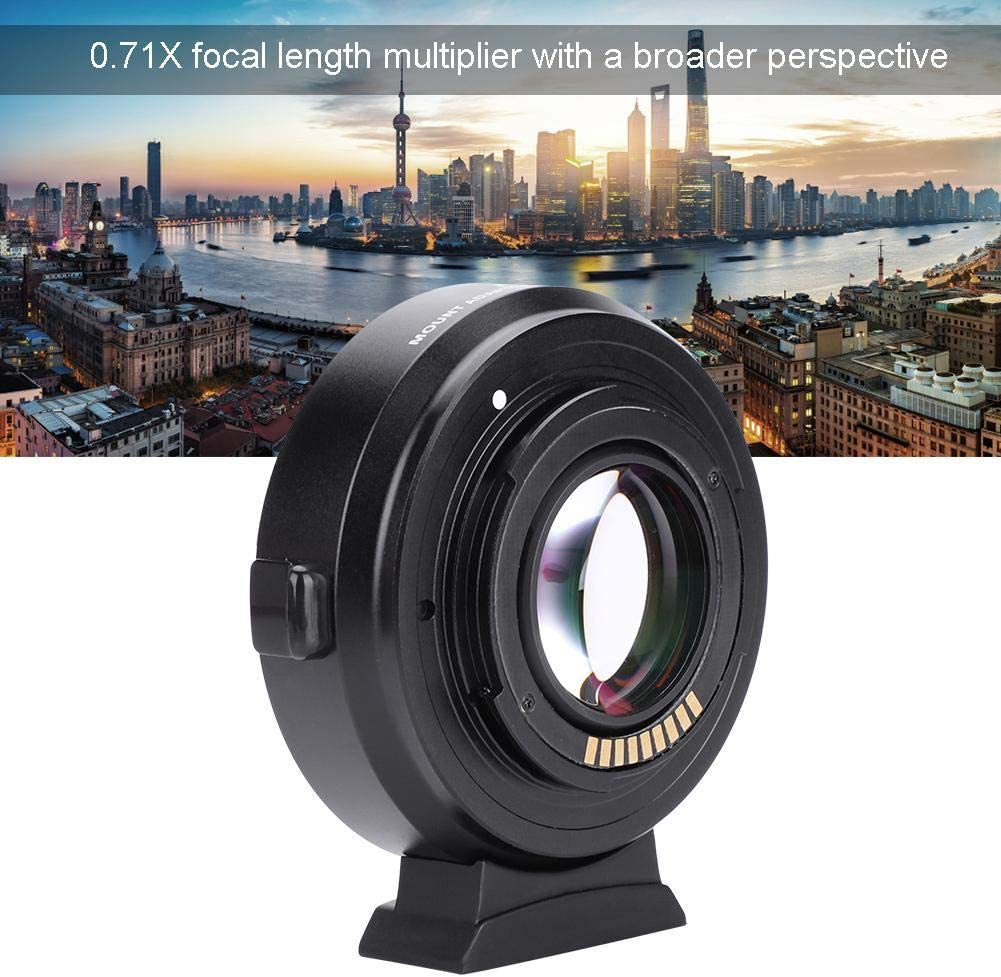 Taidda Auto Focusing Mount Adapter 0.71X Adjustable Aperture Anti-Shake with a Broader Perspective for Digital DSRL Camera Lens