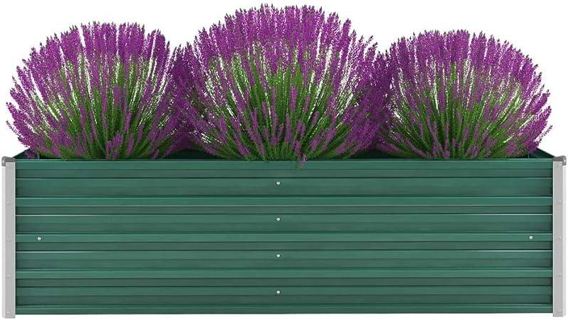 Nishore - Jardinera de jardín de Acero galvanizado, bancal de ...