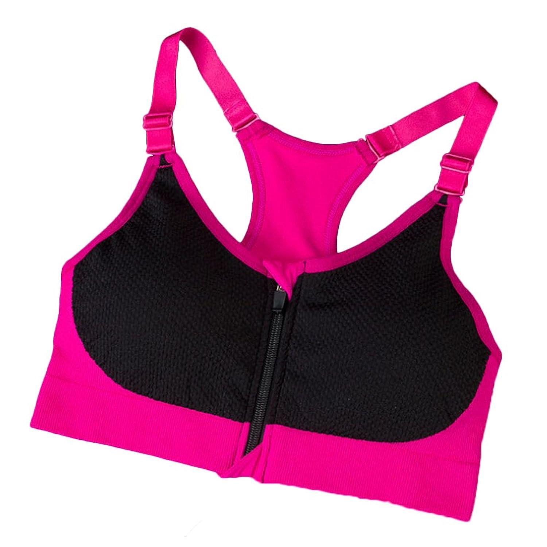 DaoJian Women Zipper Fitness Yoga Bra