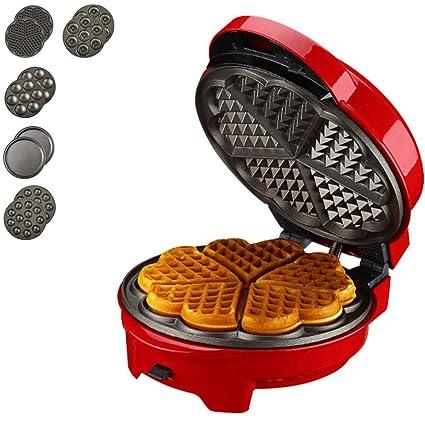 10x8x5inch Waffle Maker Sandwich Machine Panini Maker Cupcake Makers Cake pop Makers Pizza Maker Household Detachable Waffle Irons-WhiteA 26x21x12cm Kitchen & Home Appliances Small Kitchen Appliances