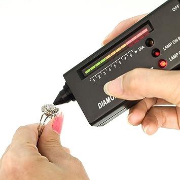 probador LED portátil de la joyeria del diamante de la herramienta del + 9V bateria + 60X Luces TE020: Amazon.es: Informática