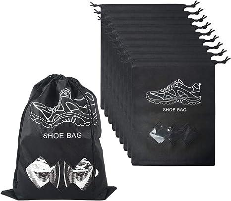 MEZOOM Shoe Bags Portable Waterproof Travel Drawstring Organizer Storage Bag