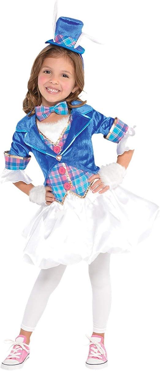 GIRLS DOWN THE RABBIT HOLE COSTUME - SMALL (6 - 8 YEARS): Amazon ...