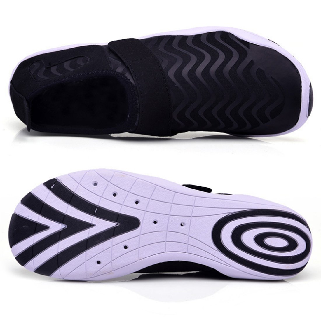 Water Shoes Quick Dry Aqua Shoes Barefoot Shoes for Water Sports Rubber Sole B07DMH65YF EU Size 37(US Size Women 6)|Black