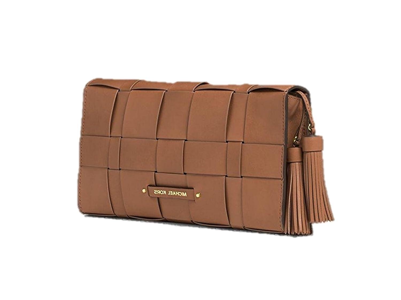 eb732590acf Michael Kors Vivian Large Woven Leather Clutch - Walnut: Amazon.de: Schuhe  & Handtaschen