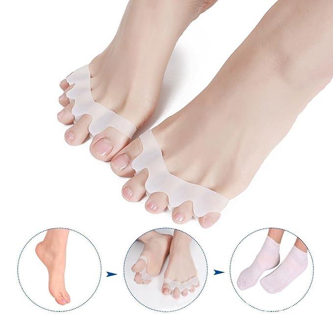 2 pares Separador de dedos de gel, para corregir hallux valgus, alivio del dolor después del yoga y actividades deportivas, se puede utilizar en la ...