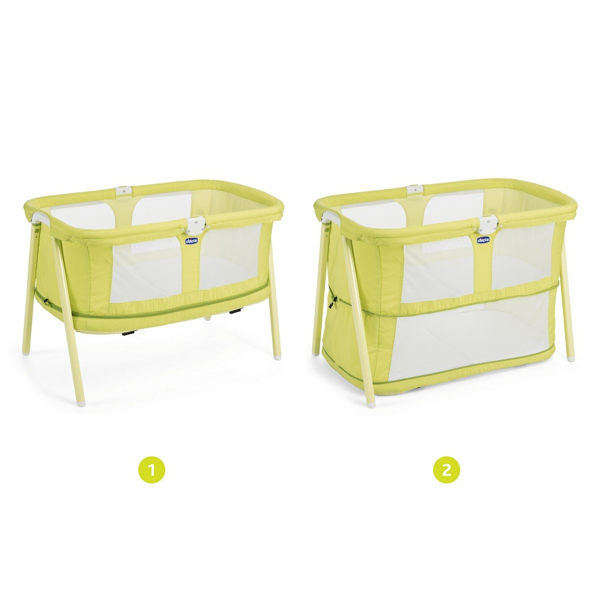Chicco Lullago - Cuna ultraligera y compacta, 7kg, color amarillo