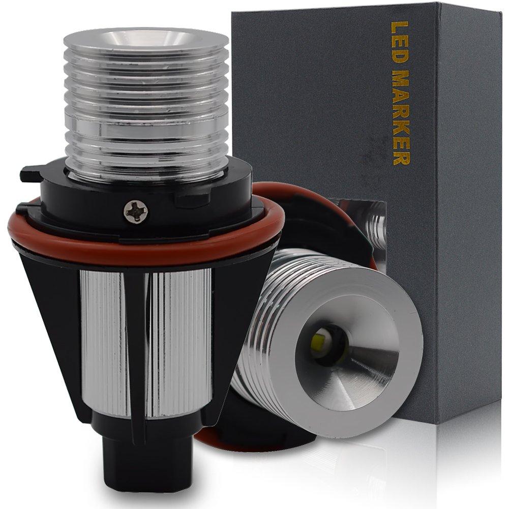 Safego 10W LED Angel Eyes Luci di Posizione Fanale Anello Marker E60 E39 E64 E66 6000K-7000K Pack of 2