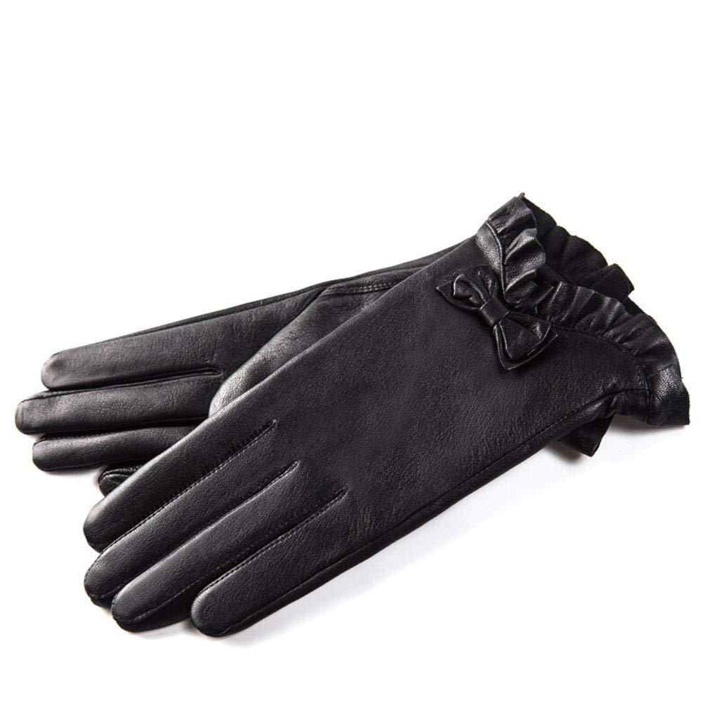 DSADDSD Handschuhe Damen Winter, warme Touchscreen Handschuhe Dünnschliff Lederhandschuhe