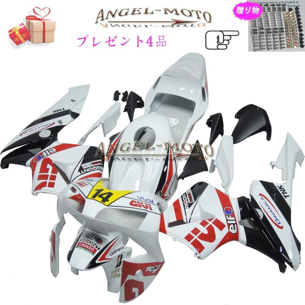 Angel-moto バイク外装パーツ 対応車体 Honda ホンダ CBR600RR 2003 2004 F5 CBR 600 CBR600 03-04 カウル フェアキット ボディ機械射出成型ABS樹脂 フェアリング パーツセット フルカウルセットの H139   B07JWF2K4V