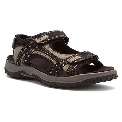 Drew Warren - Men's Orthopedic Sandals Blk/Gry CMB - 13 Wide | Sandals