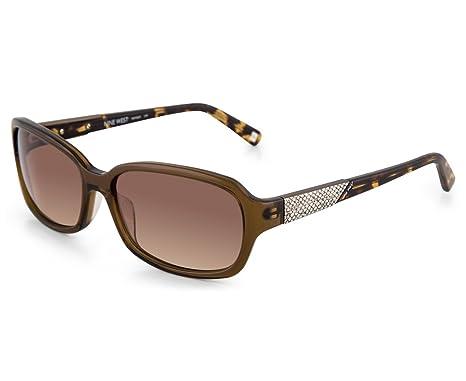 89d3d1a5af27d Óculos de Sol Nine West Nw565s 210 57 Marrom Transparente  Amazon ...