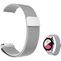 FOOKANN Stainless Steel Watch Band Metal Strap for Samsung Galaxy Watch Active 2 44mm 40mm (Silver)