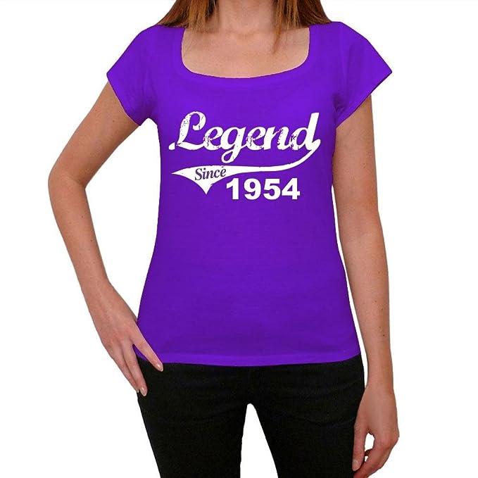 1954, camiseta purpura, camisetas mujer, camiseta cumpleaños mujer: Amazon.es: Ropa y accesorios
