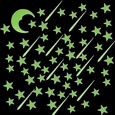 SUMAJU 213 Pcs Glow in Dark Stars,Galaxy Glow Star Set for Kids Boys Girls: Baby