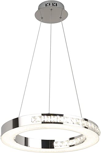 Modern Chandelier Fixtures LED Hanging Lamps 1 Ring 15.57″ Diameter