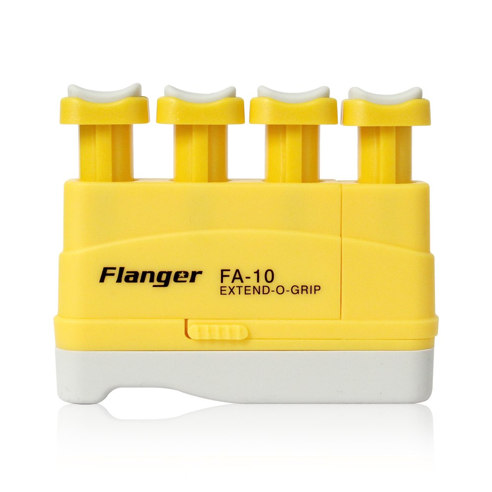 Hand Finger Master Exerciser Strengthener for Guitar Piano or Therapy, Tensions from 3,5,7 lbs, Great Gift for Guitar Beginner Hand Exerciser Finger Strengthener Trainer, FA-10, Yellow - 3 lbs Flanger