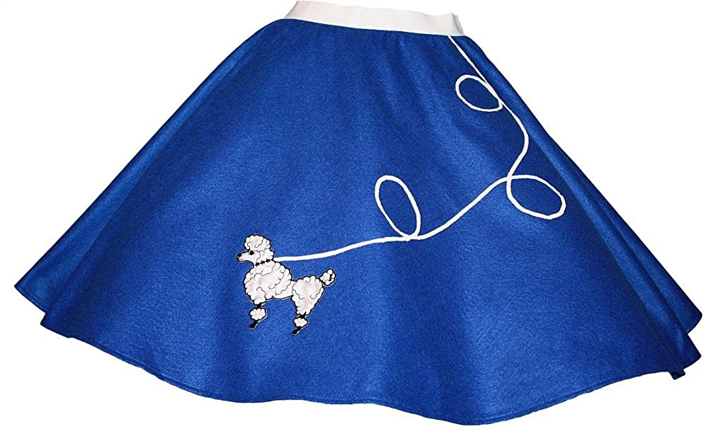 Children Blue Felt Poodle Skirt 3 BIG NOTES