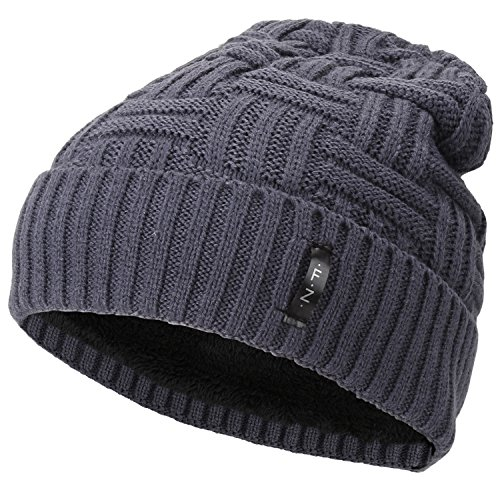 Fantastic Zone Beanies Skull Caps Striped Knit Skull Caps Beanie Winter Hats For Men Grey One Size - Northwest Basket Wine
