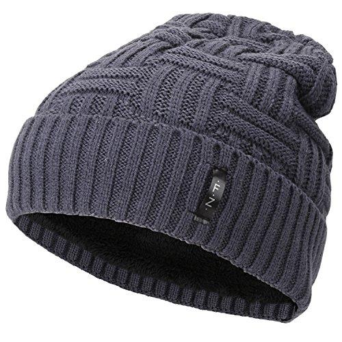 (Fantastic Zone Beanies Skull Caps Striped Knit Skull Caps Beanie Winter Hats For Men Grey One Size)