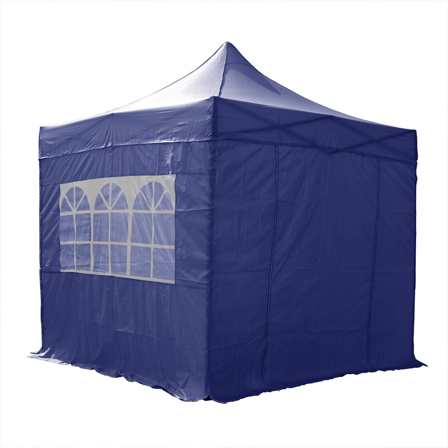 AIRWAVE Pop Up Gazebo 2.5x2.5m Waterproof Outdoor Canopy Marquee Tent for Garden Party (Blue)
