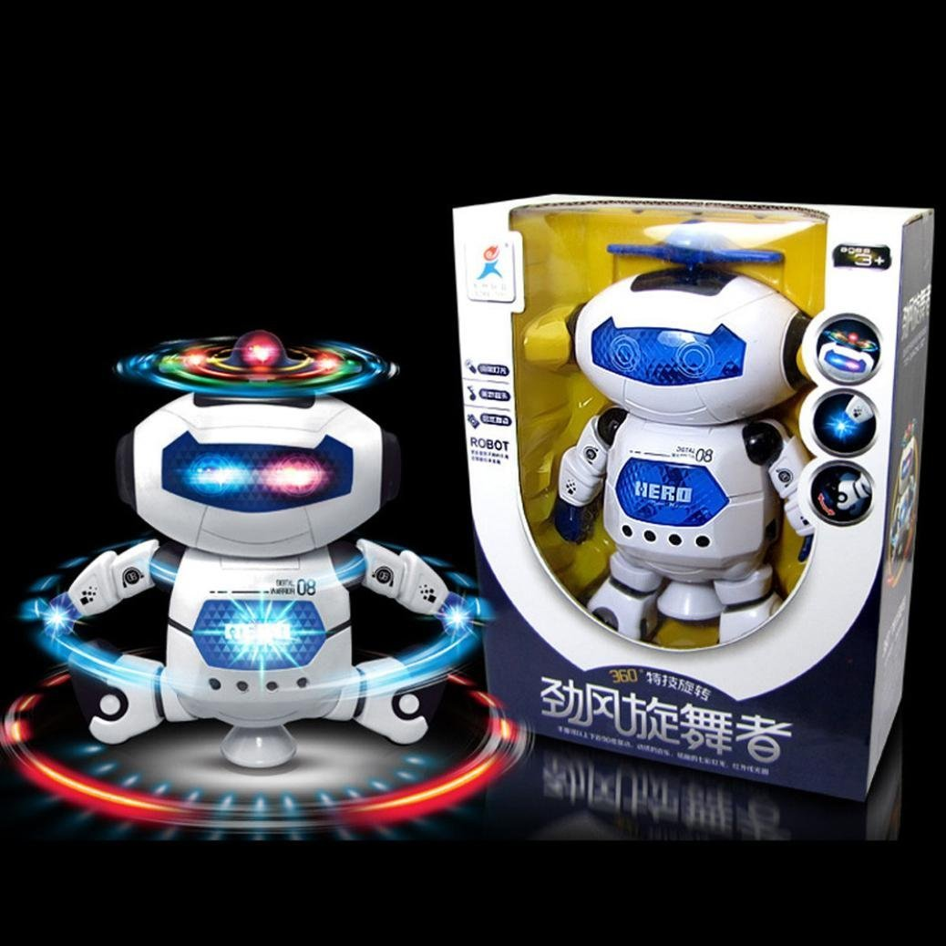 UKnows Smart Space Robot Electronic Walking Dancing Astronaut Kids Music Light Toys by UKnows (Image #7)