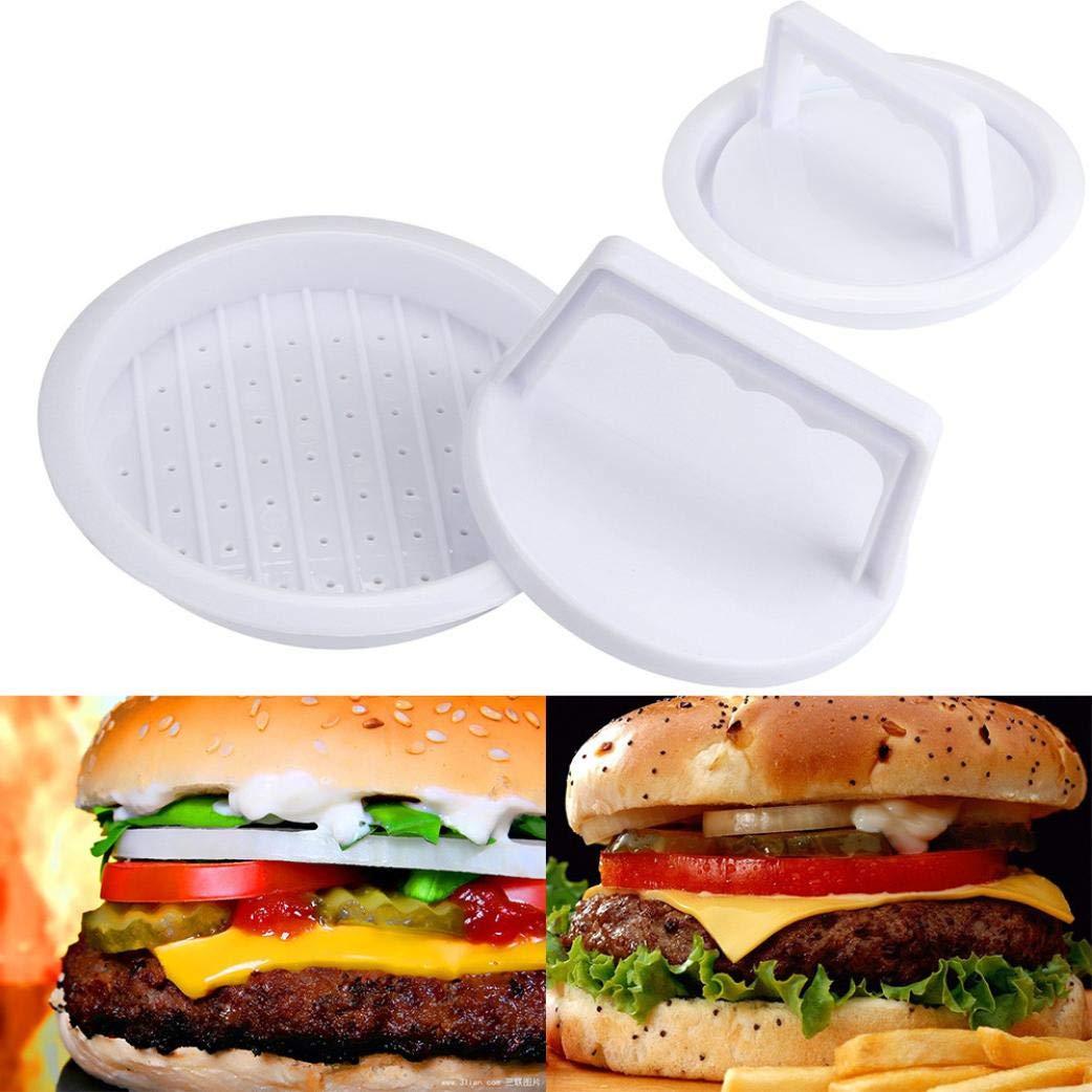 Pumsun  Patty Press Form Hamburger Mold Maker Round Meat Mince BBQ (White)