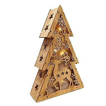 Christmas Home Decor 2019.Amazon Com Pausseo Led Felt Christmas Tree 2019 New Year