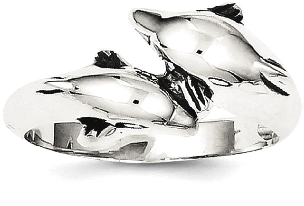 ICE CARATS 925 Sterling Silver Dolphin Band Ring Size 8.00 Animal Fine Jewelry Ideal Gifts For Women Gift Set From Heart by ICE CARATS (Image #2)