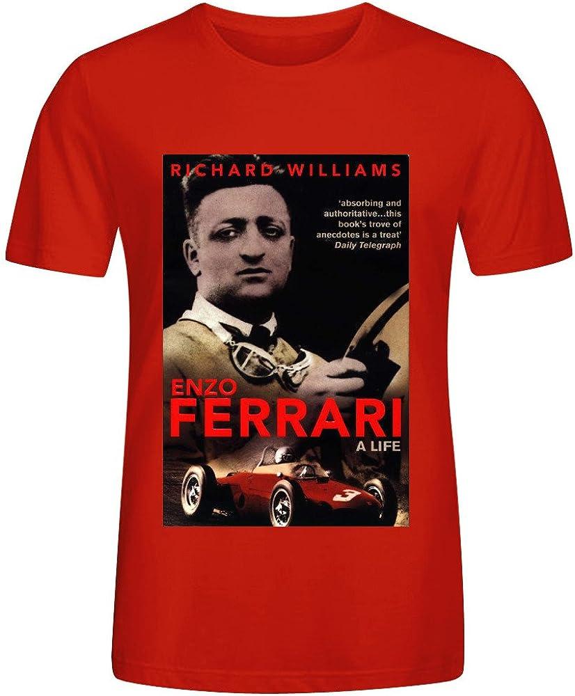fgexyz Custom Enzo Ferrari Póster – Camiseta de manga corta para hombre algodón o cuello: Amazon.es: Ropa y accesorios