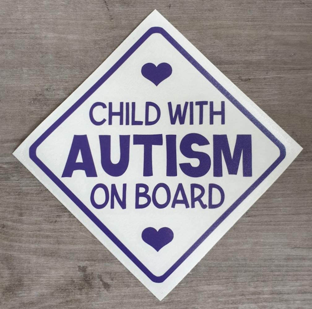Child with Autism On Board Car Sticker Fun Baby On Board Vinyl Decal for Bumper HSS436 Window