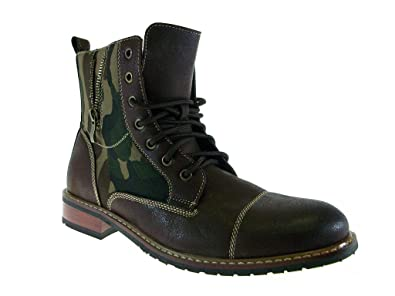 350ad4f021e Ferro Aldo Men's 808561A Camo Design Dress Casual Zippered Combat Boots,  Brown, ...