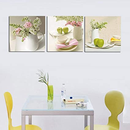 Etonnant 3 Piece Contemporary Kitchen Decor Split Canvas Picture Of Art Wall Canvas  Artwork, Framed,