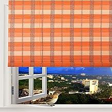 "Natural Bamboo Roll Up Window Blind Roman Sun Shade WB-BCT002 (W48"" X H84"")"