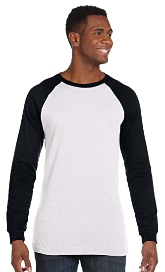 f1e8c0e0327 Image Unavailable. Image not available for. Color  Bella + Canvas Men s  Jersey Long-Sleeve Baseball T-Shirt ...