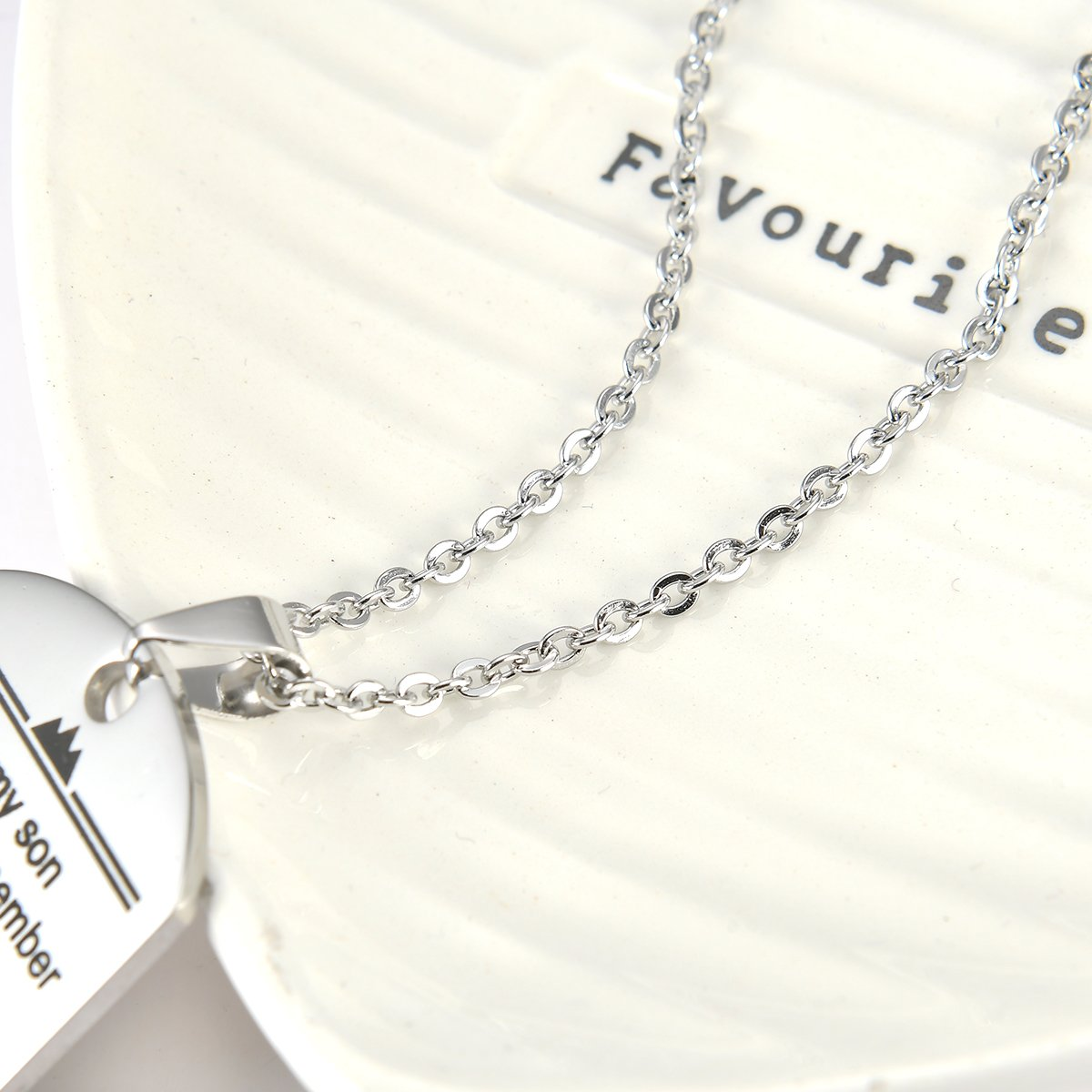 Stainless Steel Dog Tag Letters ''To my son....love mom'' Pendant Necklace,Inspirational Gifts For Son Jewelry by danjie (Image #6)
