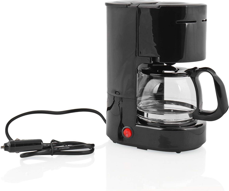 Ha ba - Cafetera (12 V, 170 W, 600 ml, 6 Tazas), Color Negro: Amazon.es: Deportes y aire libre